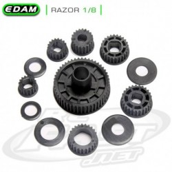 Conjunto de Pulleys - Razor 1/8